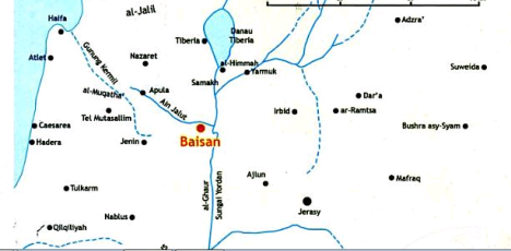 Letak Kota Baisan